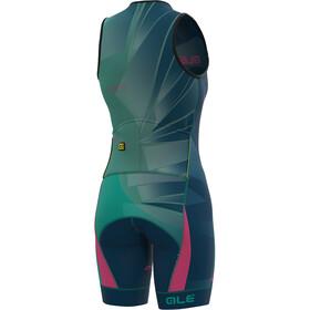 Alé Cycling Triathlon Hawaii Ärmelloses Ganzkörpertrikot Damen emerald